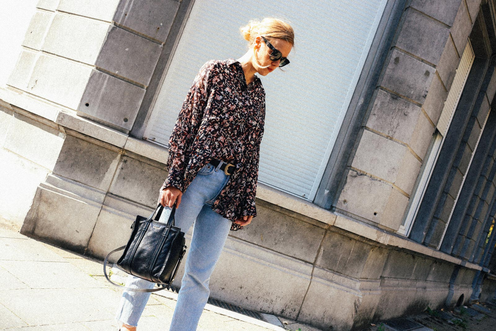 Iro Paris blouse print outfit